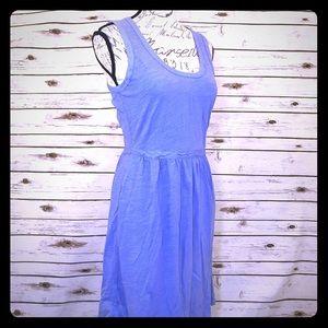 J Crew Blue Pockets Cotton Casual Dress